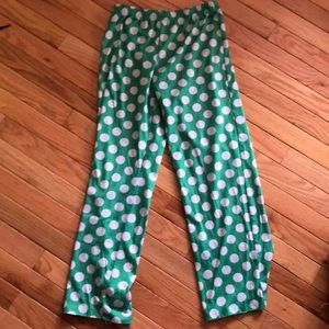 Justice girls pajama bottoms pokadotted